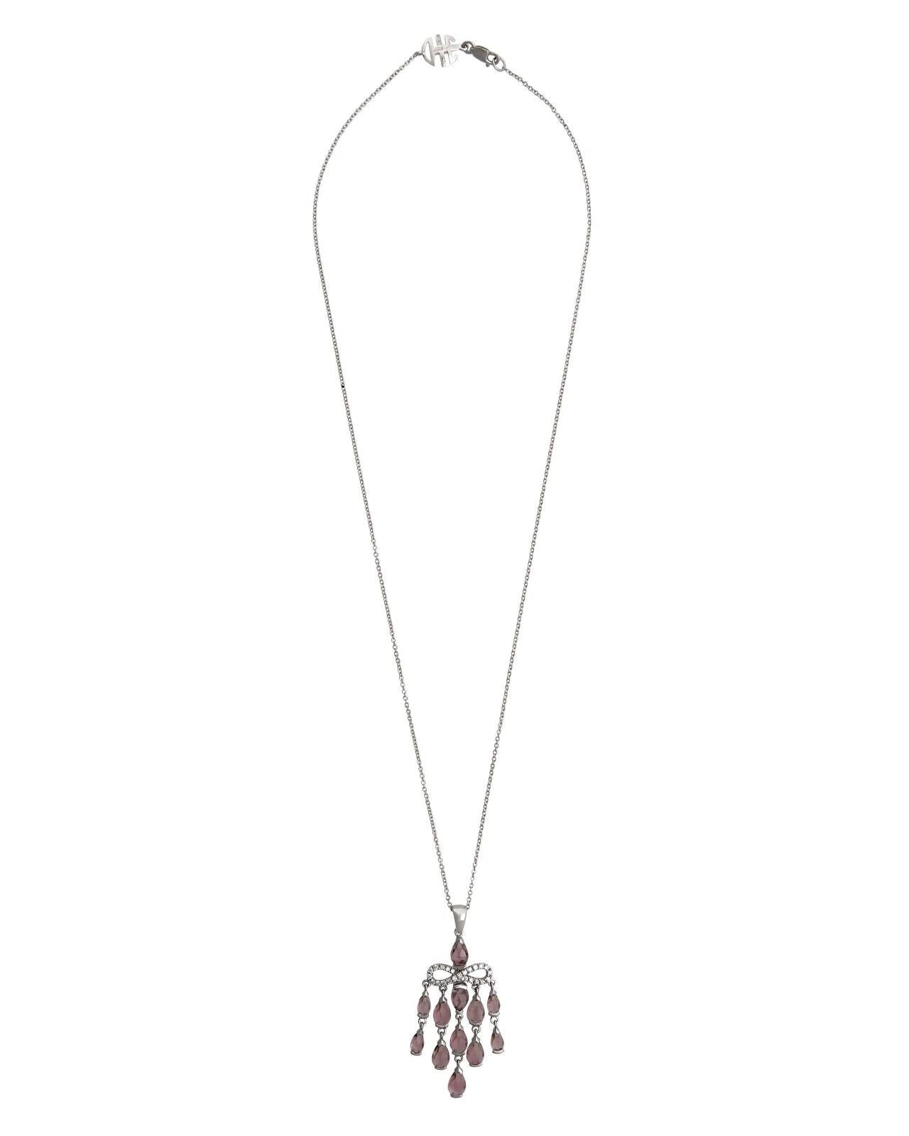 Mimi Milano Pendant In 18K White Gold, Tourmaline Diamonds P380B8UB