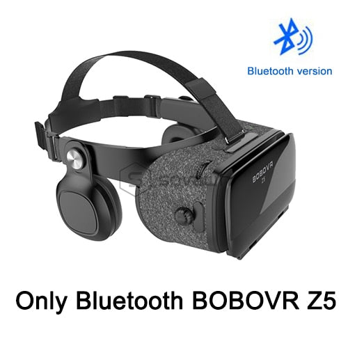 BOBOVR Z5 4D Bluetooth Virtual Reality 3D Glasses Cardboard Helmet  Smartphone VR Goggles Shock Headset Box For Iphone 8 Android