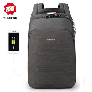 e4aecaf707 Tigernu anti theft laptop backpack usb charging 15.6 backpacks men slim  waterproof school backpack bag women