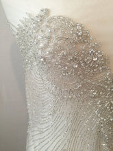 Load image into Gallery viewer, Rhinestone Beaded Applique - Large Crystal Wedding Applique