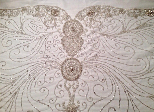 Rhinestone Applique, Beaded Large Applique