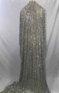 Sequin Rhinestone Beaded Tulle