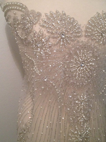 Princess Rhinestone Beaded Applique - Large