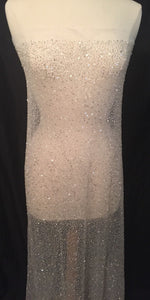 Sequin Fabric, Beaded Wedding Dress Fabric, Sequin Tulle, Sequin Material, Bridal Fabric