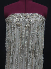 Load image into Gallery viewer, Ready to ship - Sequin Beaded Fringe Material