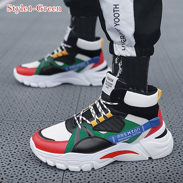 LASPERAL New Men Casual Shoes Lac Up Men Shoes Winter Fashion Female Clunky Sneaker Casual Platform High Heel Dad Shoes 39 44