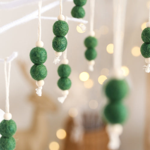 Double Felt Ball Christmas Decorations