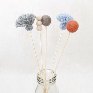 tassel felt bunch flowers little cloud lane