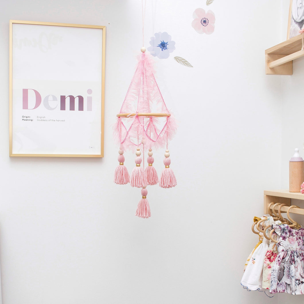 Mini Tulle Chandelier Mobile