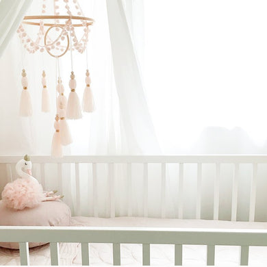 little cloud lane pink chandelier tassel mobile