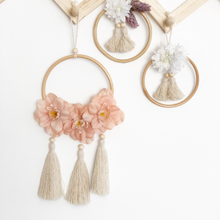 Load image into Gallery viewer, Blossom wildflower tassel wall hanging by Little Cloud Lane