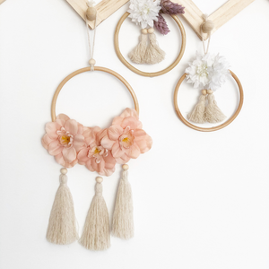 Blossom wildflower tassel wall hanging by Little Cloud Lane