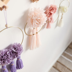 floral wall hanging fleur collection