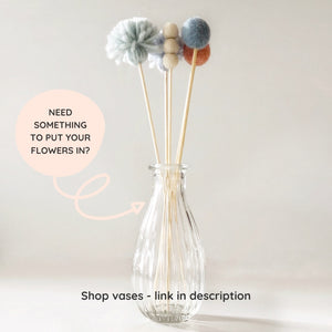 Display your Little Cloud Lane flowers in our new vases