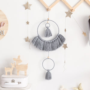 grey tassel mobile wall hanging