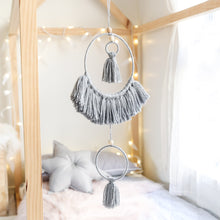 Load image into Gallery viewer, grey tassel mobile wall hanging