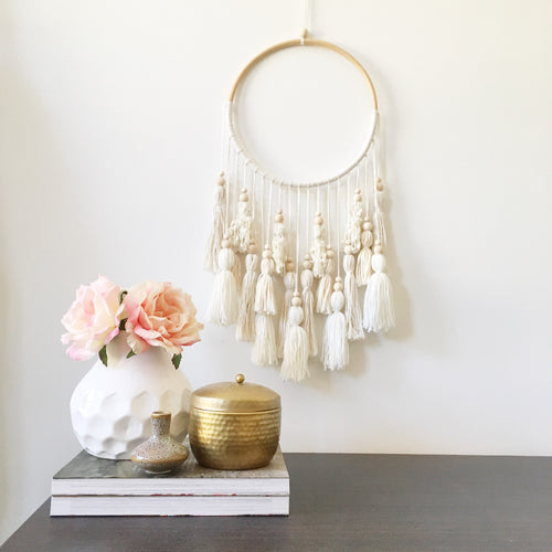 Little Cloud Lane handmade boho tassel wall hanging
