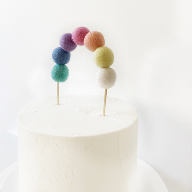 Rainbow birthday party cake topper The Little Shindig Shop Little Cloud Lane
