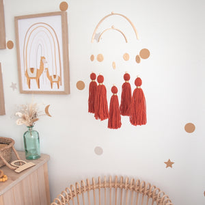 Wanderer tassel mobile by Little Cloud Lane