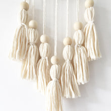 Load image into Gallery viewer, Little Cloud Lane medium boho tassel wall hanging