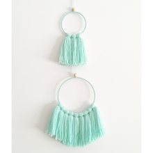Load image into Gallery viewer, mint tassel mobile wall hanging