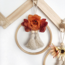 Load image into Gallery viewer, Rose OOAK mini flower wall hanging by Little Cloud Lane