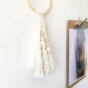 Little Cloud Lane small boho tassel wall hanging