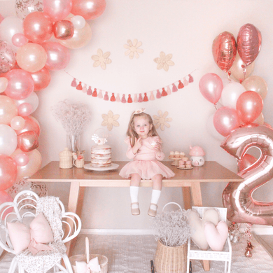 Rose gold tassel party garland by The Little Shindig Shop