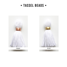 Load image into Gallery viewer, little cloud lane tassel bead options
