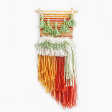 Load image into Gallery viewer, Green mustard rust mini weave woven wall hangings kids room decor by Little Cloud Lane