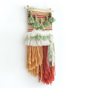 Mini weave woven wall hangings kids room wall decor by Little Cloud Lane