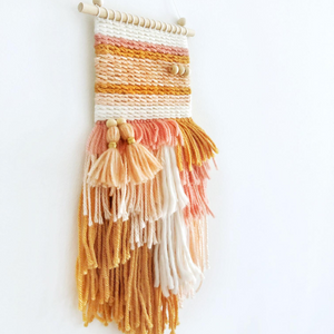 Woven wall hangings kids room decor by Little Cloud Lane