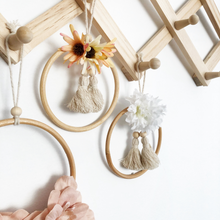 Load image into Gallery viewer, Mini flower tassel wall hangings by Little Cloud Lane