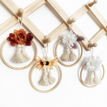 Load image into Gallery viewer, OOAK mini flower wall hangings by Little Cloud Lane