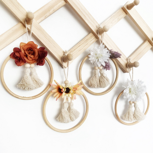OOAK mini flower wall hangings by Little Cloud Lane