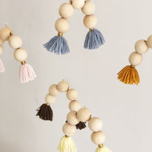 Load image into Gallery viewer, wooden rainbow mobile with tassels