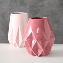 Load image into Gallery viewer, PINK GEOMETRIC VASE