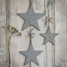 Load image into Gallery viewer, VINTAGE GREY WOODEN STARS