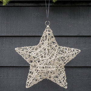 LARGE SCRIBBLE BEAD STAR