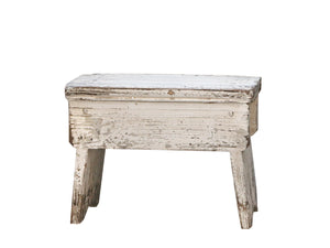 LIGHT OLD FRENCH STOOL