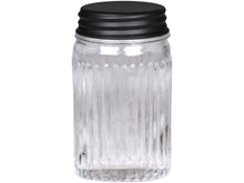 Load image into Gallery viewer, TALL GROOVED GLASS STORAGE JAR