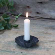Load image into Gallery viewer, BLACK METAL CANDLE HOLDER