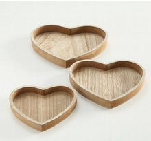 Load image into Gallery viewer, SET OF 3 HEART TRAYS