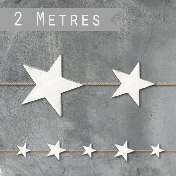 DISTRESSED STAR GARLAND