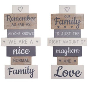 VINTAGE SLATTED FAMILY SIGN