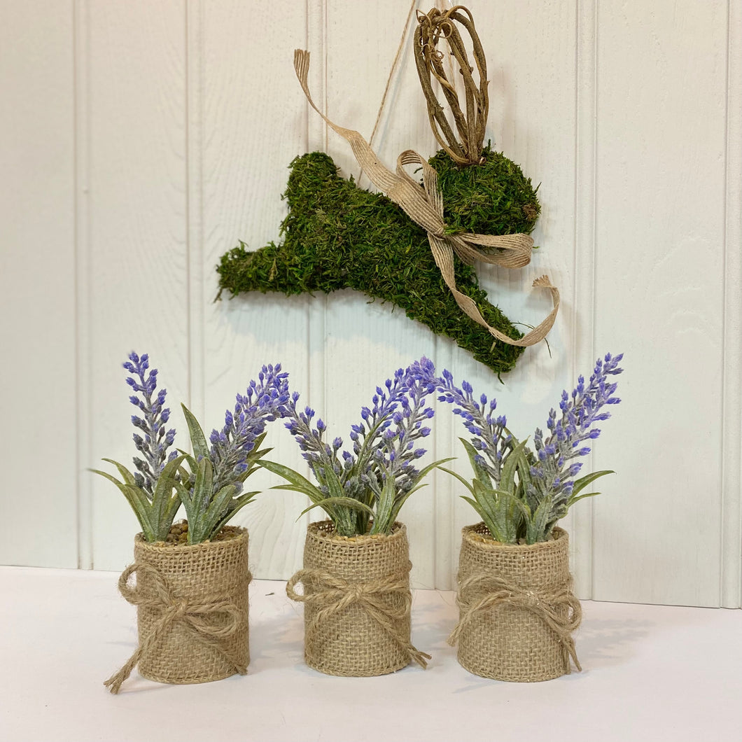 MINI HESSIAN LAVENDER
