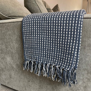 CHARCOAL WOVEN STITCH THROW