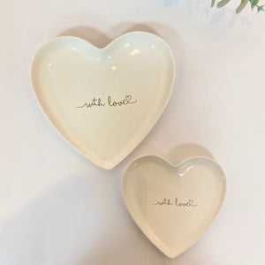 WITH LOVE HEART PLATES