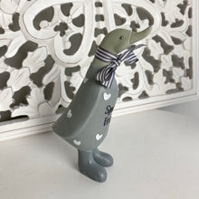 Load image into Gallery viewer, GREY WOODEN DUCK