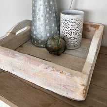 Load image into Gallery viewer, RUSTIC WOODEN TRAY